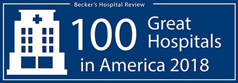 Becker's 100 Great Hospitals in America 2018