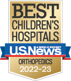 US News Orthopaedics Badge