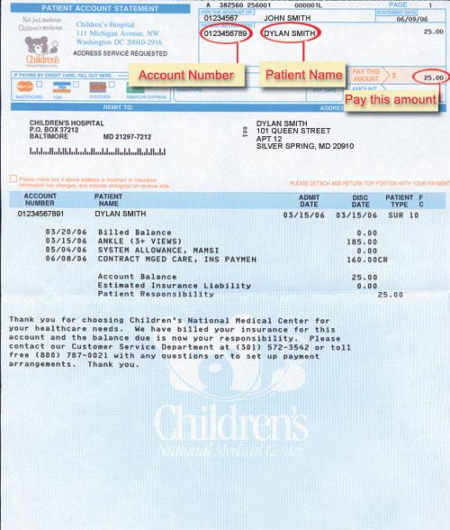 sample of bills
