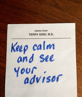 Keep Calm and See Your Advisor