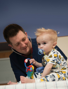 Craig Woodside with patient