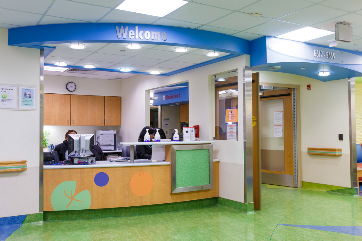 NICU welcome desk