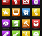 Variety of app icons