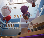 Hospital Atrium with Balloons