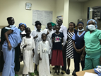 Patients and staff at the Uganda Heart Institute for RHD-related heart surgeries