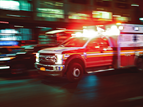 blurry photo of an ambulance