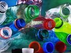 colorful pile of plastic bottles
