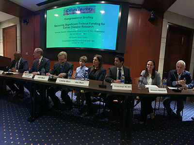 Celiac Disease Program leaders joined policymakers, experts and families to make the case for additional celiac disease research funding on Capitol Hill in January 2020.