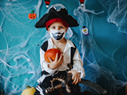 boy in mask dressed as pirate