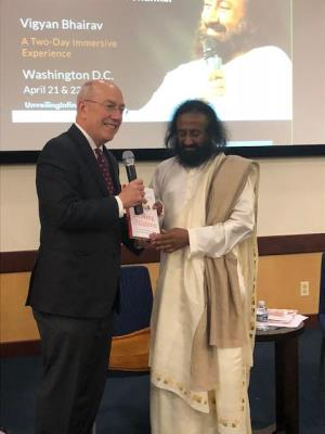 Dr. Newman with Sri Sri