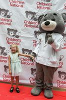 Patient Avery Bullard meets Dr. Bear.