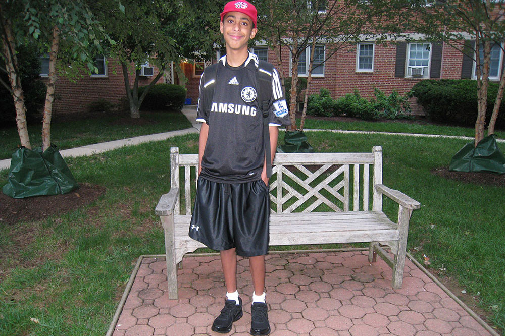 Jared first day of 8th grade