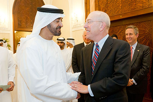 Sheikh Zayed Institute member with Dr. Newman