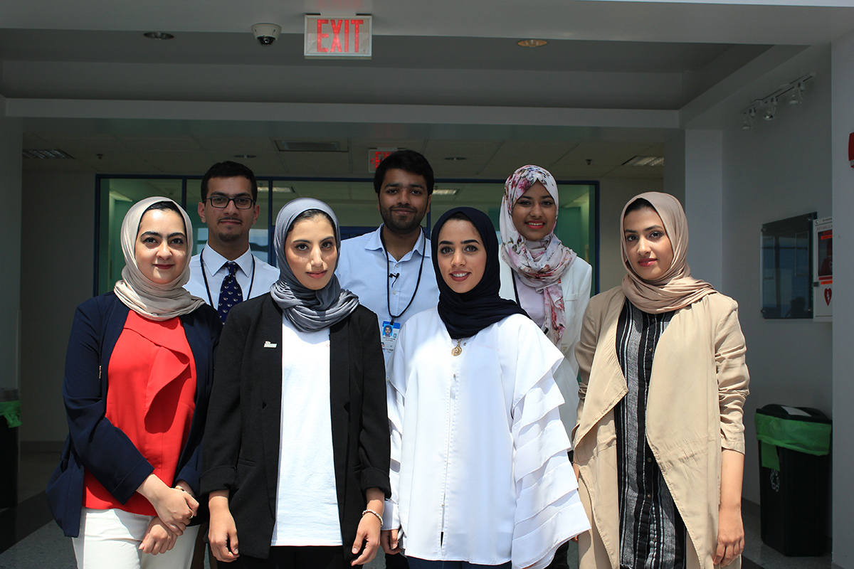 Students from the Khalifa University of Science, Technology & Research and the Higher Colleges of Technology in the United Arab Emirates.