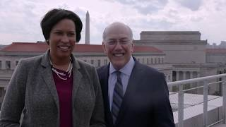 Mayor Muriel Bowser and CEO Kurt Newman smiling
