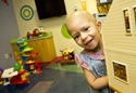 oncology patient in hospital playroom