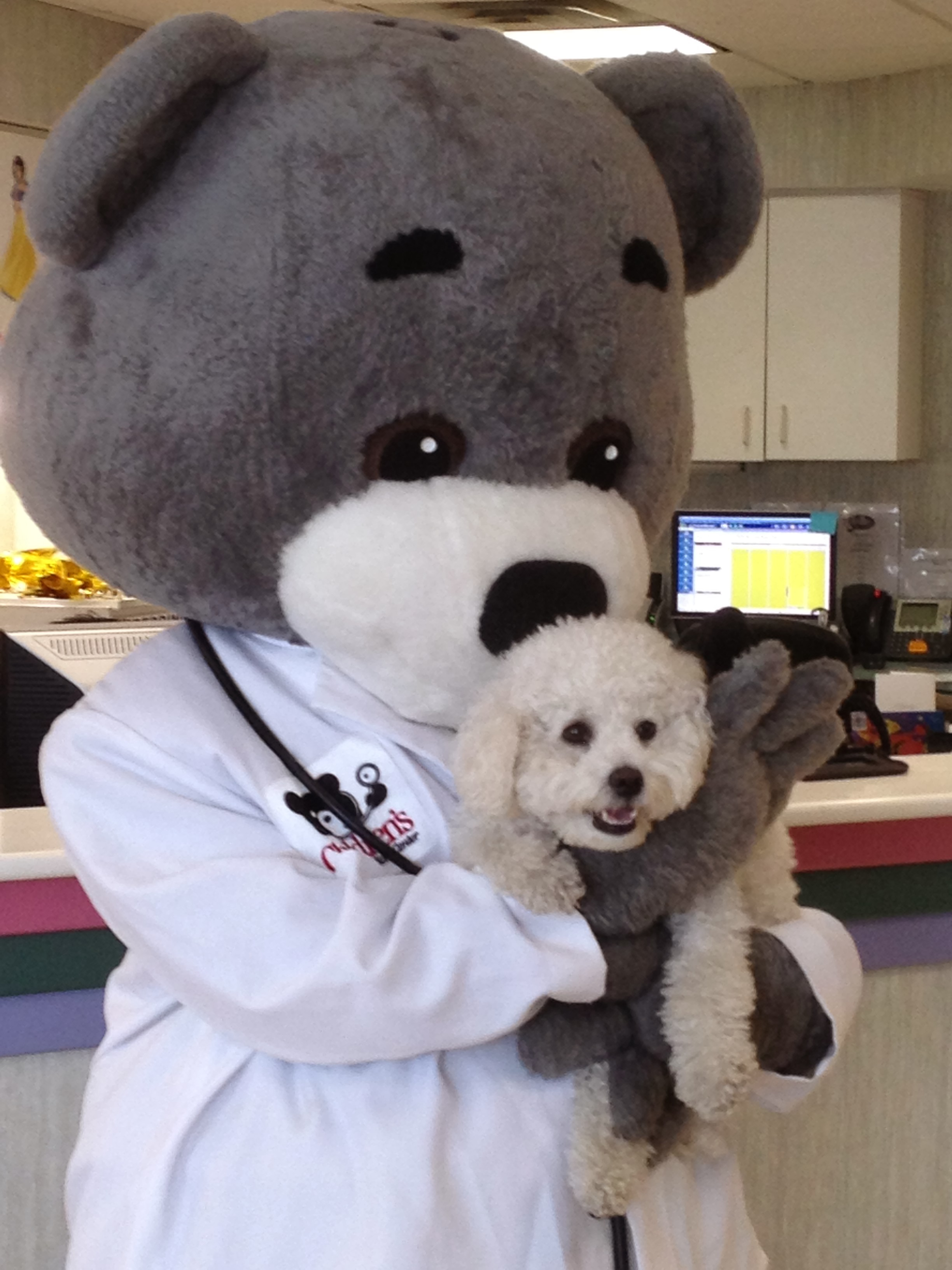 Murphy with Dr. Bear
