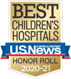 U.S. News and World Report Best Children's Hospital Honor Roll badge