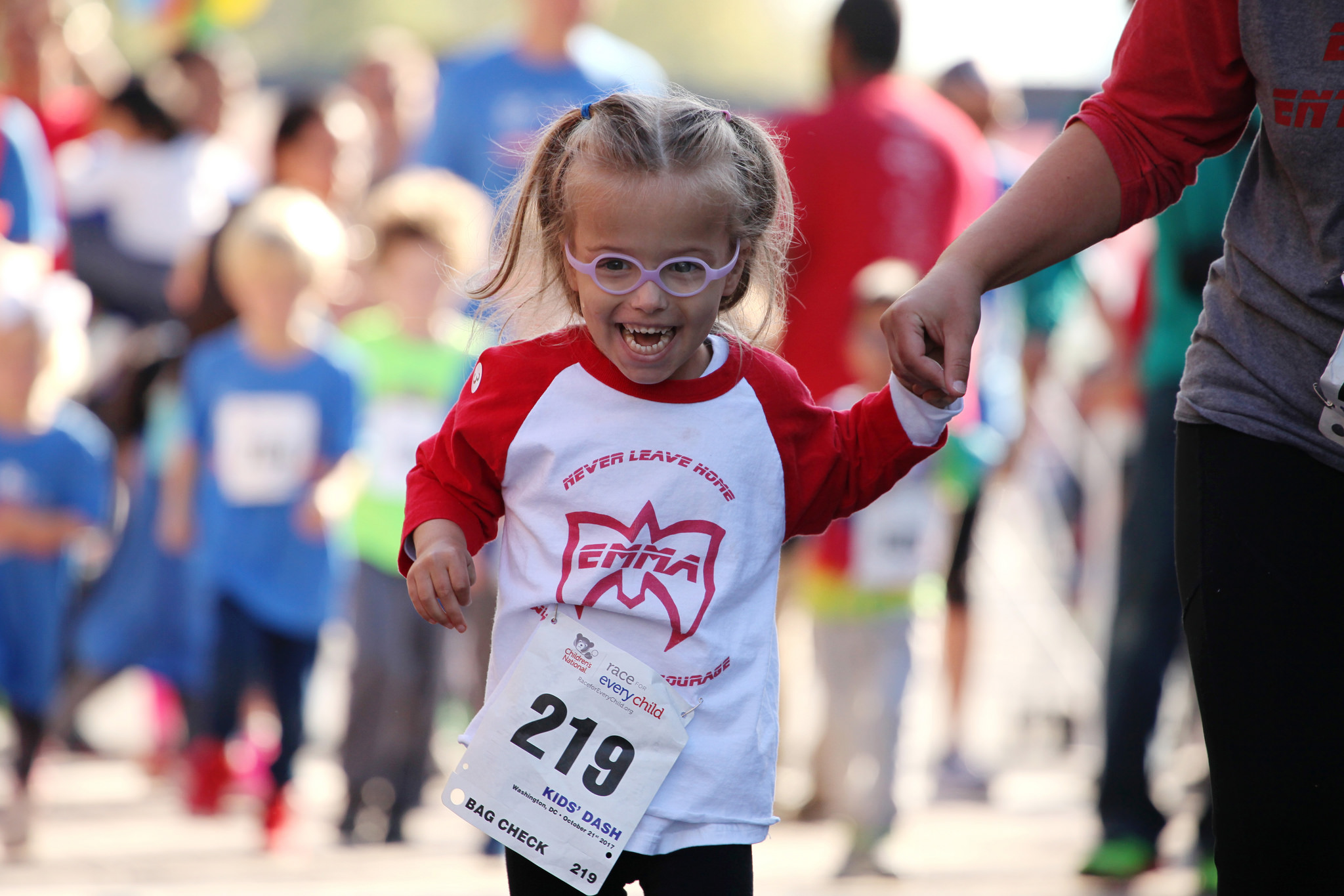 Emma Cirks at the 2017 Race for Every Child