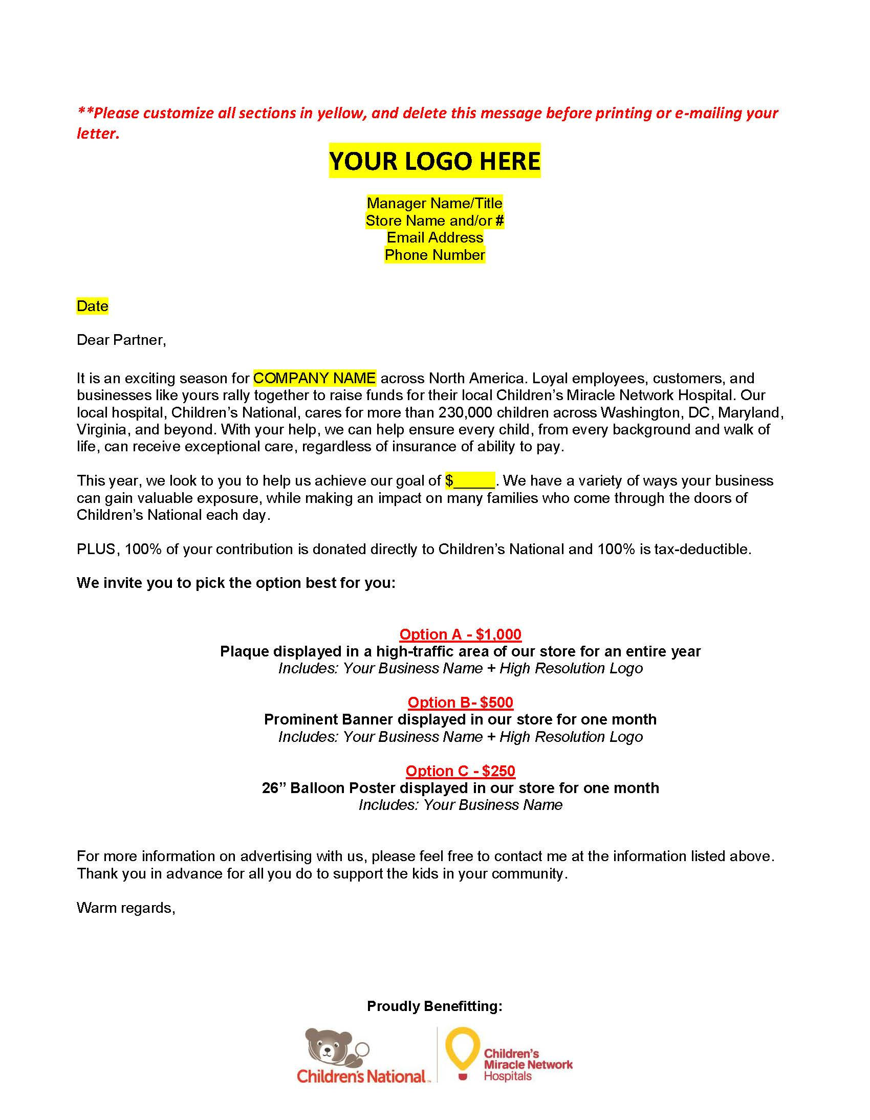 tn-sponsor-template-letter Tax Deductible Donation Letter Template on list amounts for household items clothing, receipt envelope,