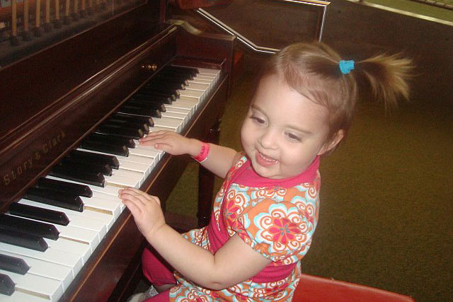 Avery at the piano