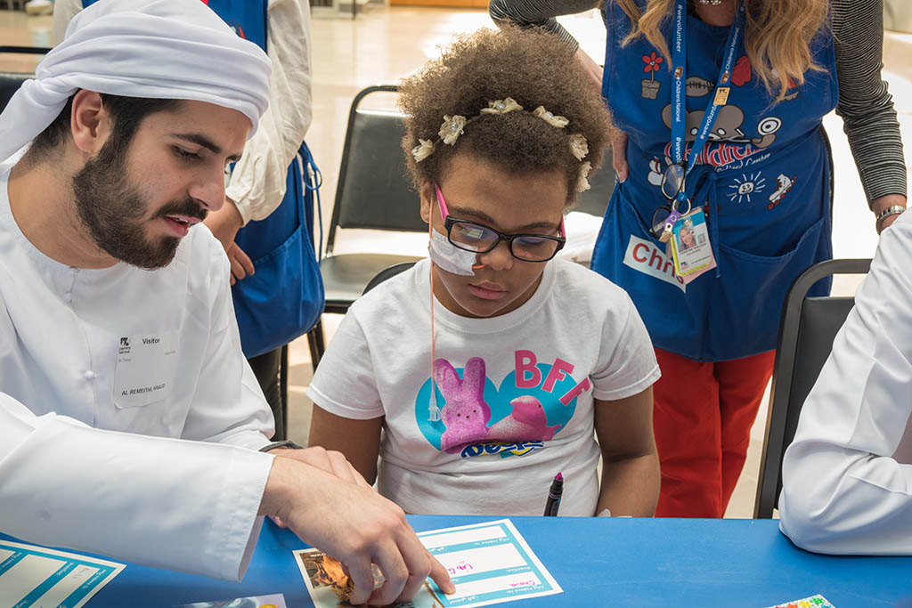 Abu Dhabi Investment Authority Scholarship Students visit Children's National