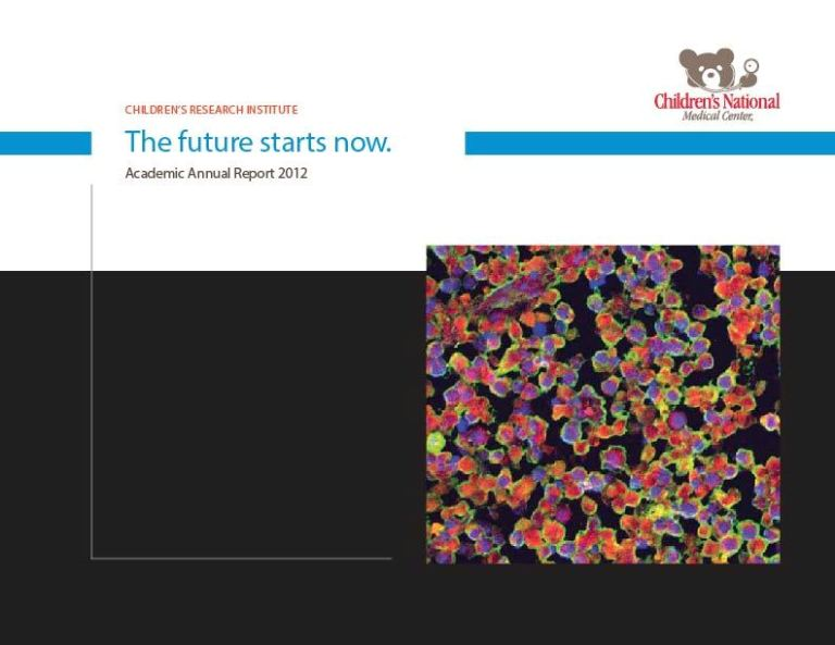Cover Childrens Research Institute Annual Report 2012 Final